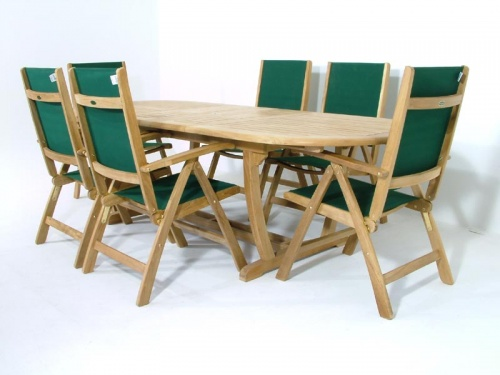 Teak Montserrat Reclining Dining Set - Picture D