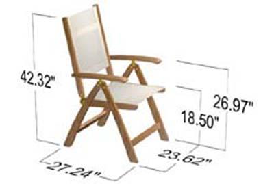 Teak Oval Wood Table - Sunbrella Teak Recliner Set - Picture H
