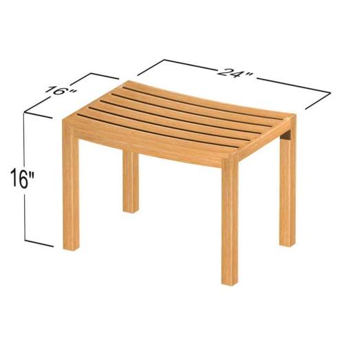 teak benches spa