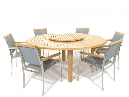 Buckingham SS Kelly Teak Dining Set - Picture A