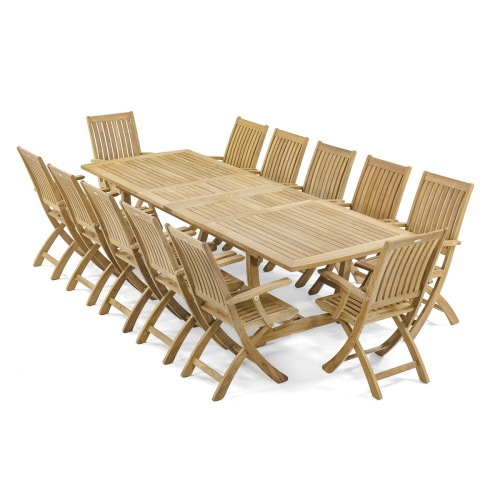 teak rectangular extending dining tables