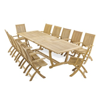 13 pc Barbuda Teak Patio Set