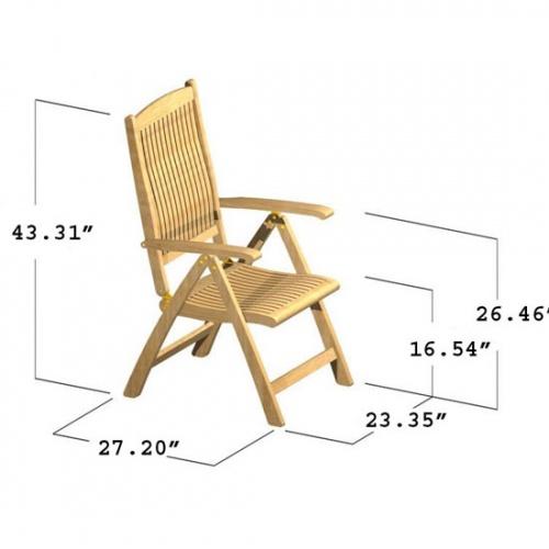 teak folding armchairs