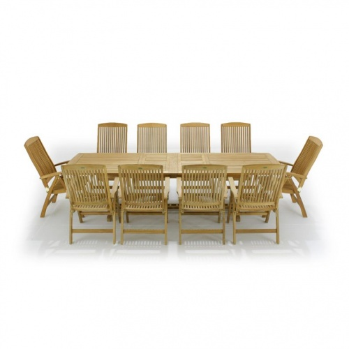 11 pc Veranda Recliner Teak Dining Set - Picture K