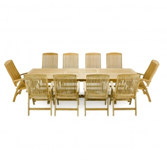 11pc Veranda Recliner Teak Set