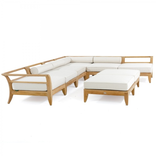 teak ottoman with cushions