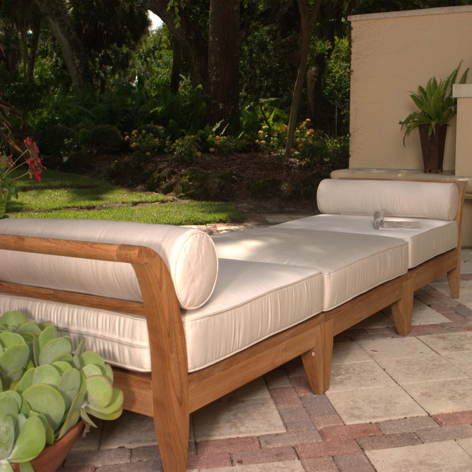 teak deep seating sectional daybed westminster teak outdoor furniture. Black Bedroom Furniture Sets. Home Design Ideas