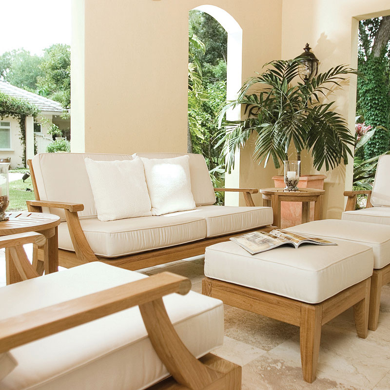 The Laguna Teak Lounge Sofa Set Features: 2 Laguna Lounge Chairs ...