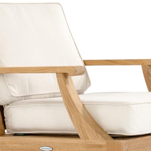 teak ottoman lounge set