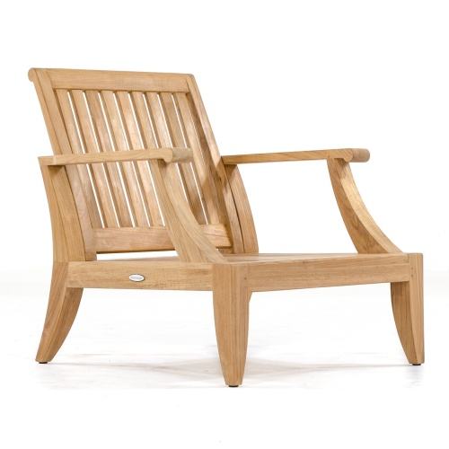 deep seating teak armchairs