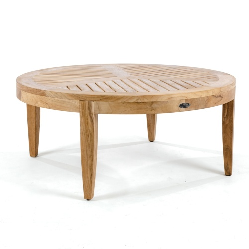 round teak side tables