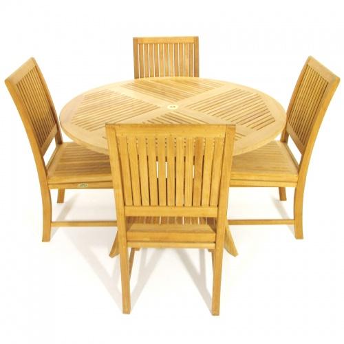 Teak Dining Set - Picture D