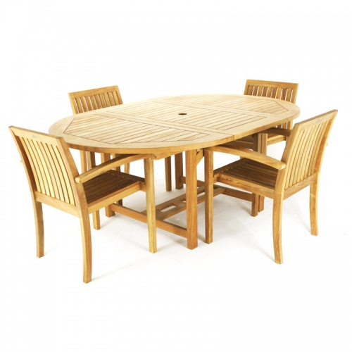 Teak Patio Furniture Set - Picture A