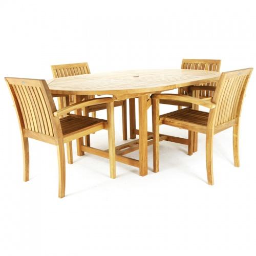 Teak Patio Furniture Set - Picture B