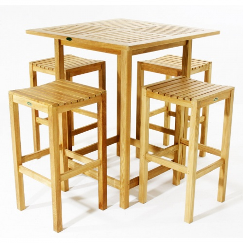 Teak Bar Furniture Set - Picture A