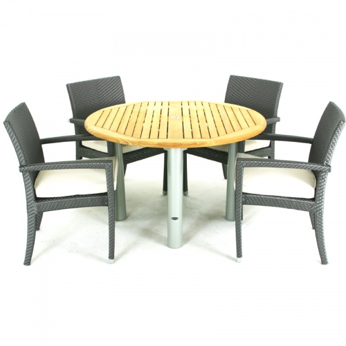 Teak dining set for 4 - Picture A