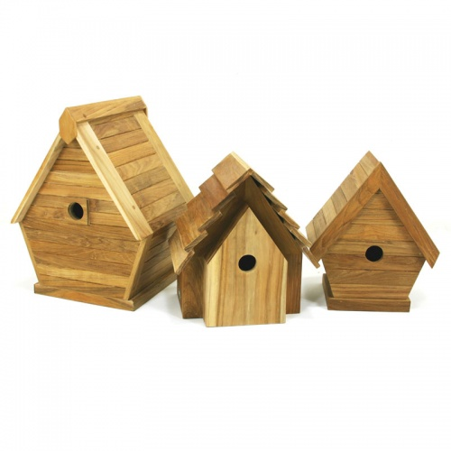 teak bird house - Picture A