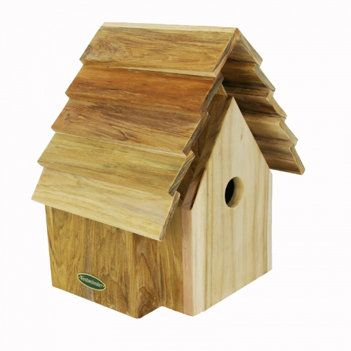 teak bird house - Picture D