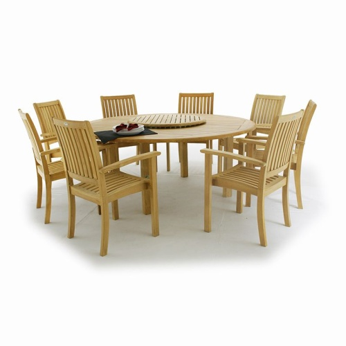 9 pc Buckingham Teak Dining Set - Picture L