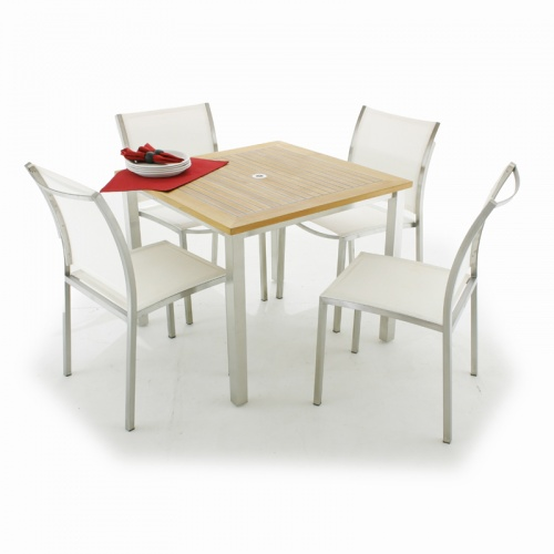 Vogue Gemini Teak Stainless Set - Picture A