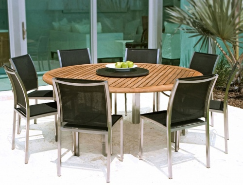 Gemini Teak Stainless Set - Picture A