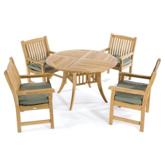 5pc Hyatt Veranda Teak Dining Set
