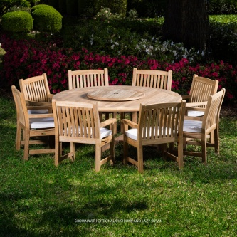 9 pc Buckingham Armchair Teak Set