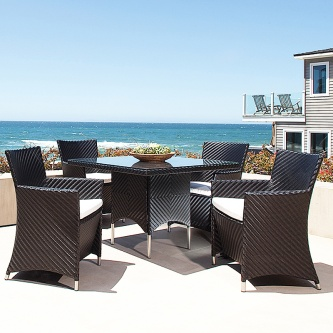 Black Valencia 5 pc Dining Set