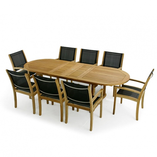 Teak Dining Set for 8 - Picture A