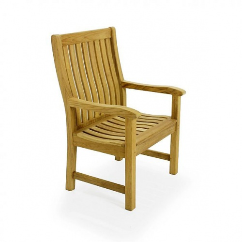 Grand Hyatt Teak Wave Arm Chair Set 4 - Picture B