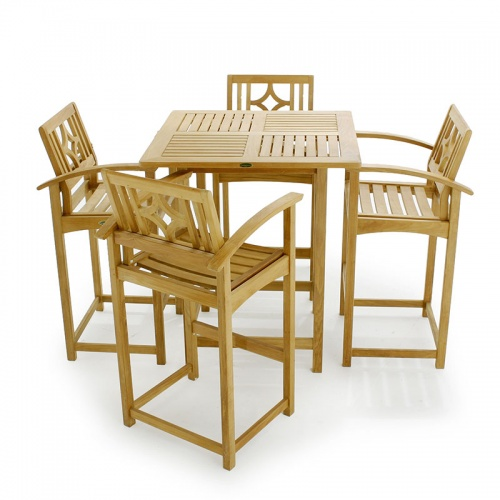 teak bar set - Picture A