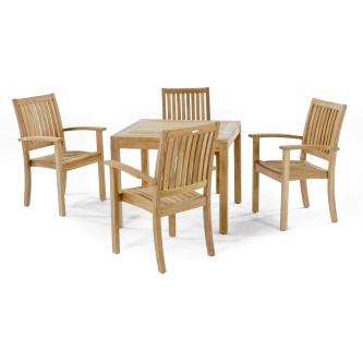 5 pc Sussex Teak Dining Set