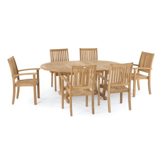 Bar Height Glass Table, Teak Dining Sets Seating For 6 To 8 Westminster Teak Furniture