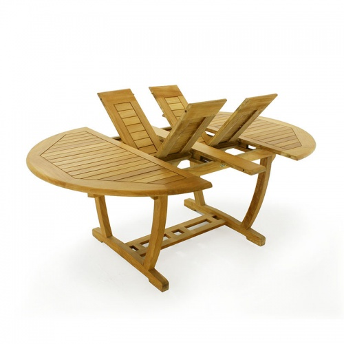 Martinique Gemini Teak & Stainless Steel Dining set for 6 - Picture E