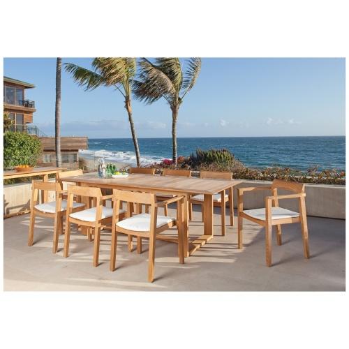 contemporary patio dining sets