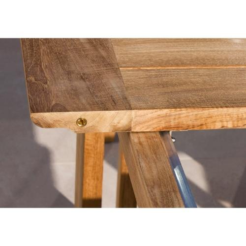 teak extendable outdoor table