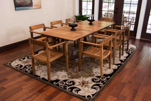 Horizon Extendable Teak Dining Set - Picture A