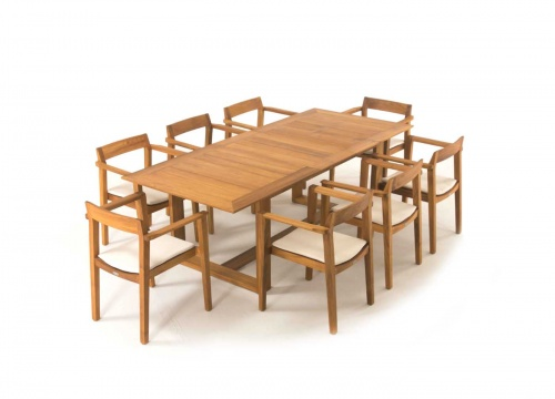 Horizon Extendable Teak Dining Set - Picture B