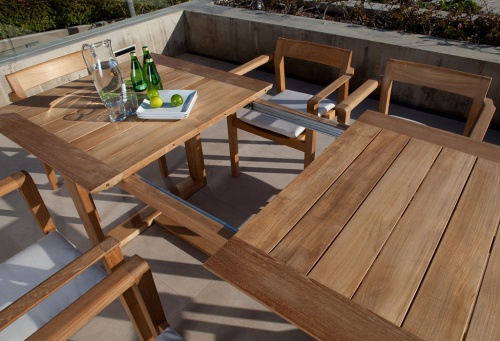 Horizon Extendable Teak Dining Set - Picture D