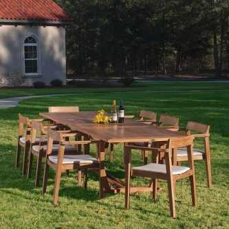 9 pc Horizon Teak Dining Set