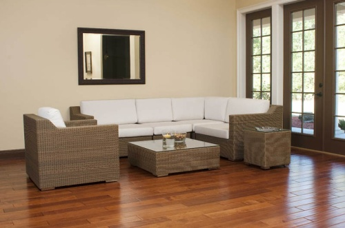 woven wicker sectionals