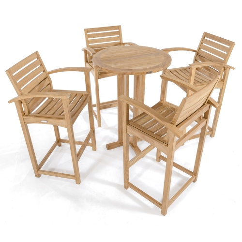 teak outdoor bar stools with arms