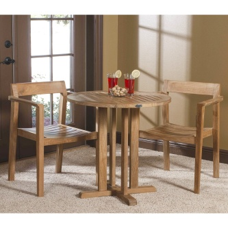 3 pc Horizon Teak Bistro Set