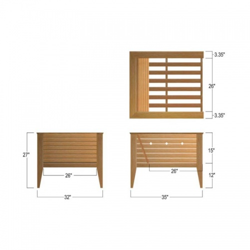 Teak Conversation and Bar Set - Picture C