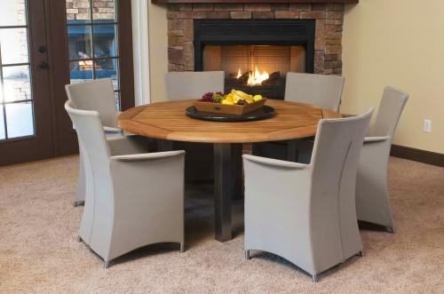 round teak dining table sets