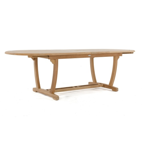 teak oval table expanding