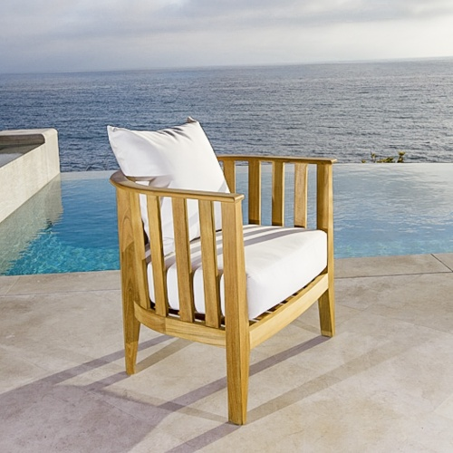 teak club chairs