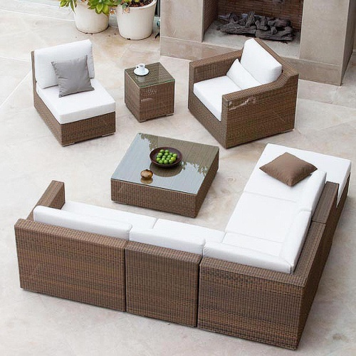 woven wicker deep seating sets