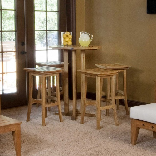 teak bar table sets