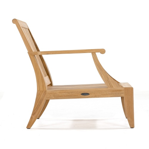 deep seating teak lounge chairs